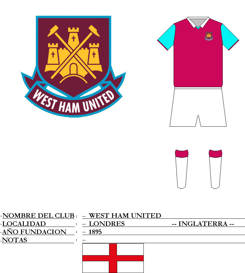 Escudo de f�tbol de WEST HAM UNITED