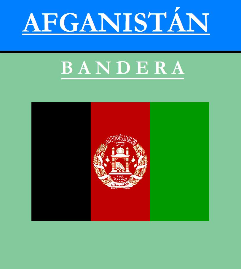 Escudo de BANDERA DE AFGANISTÁN