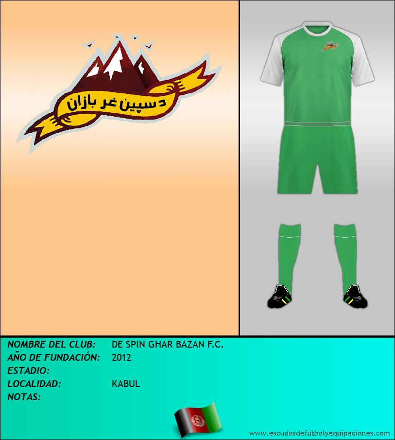Escudo de DE SPIN GHAR BAZAN F.C.