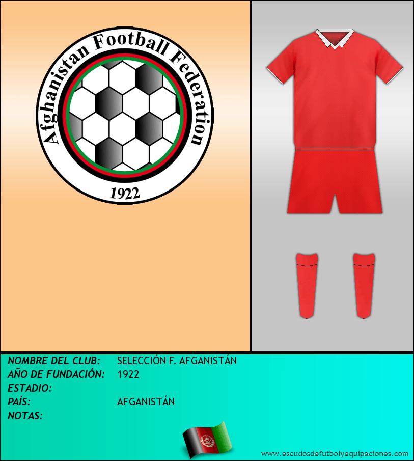Escudo de SELECCIÓN F. AFGANISTÁN
