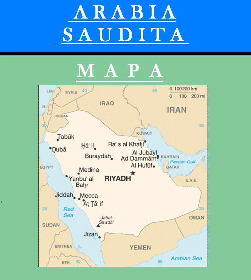 Escudo de MAPA DE ARABIA SAUDITA