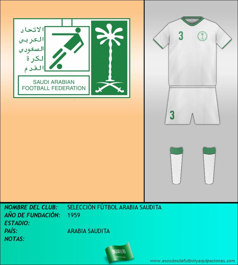 Escudo de SELECCIÓN FÚTBOL ARABIA SAUDITA