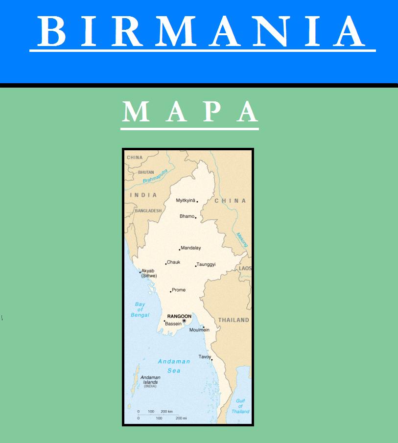 Escudo de MAPA DE BIRMANIA