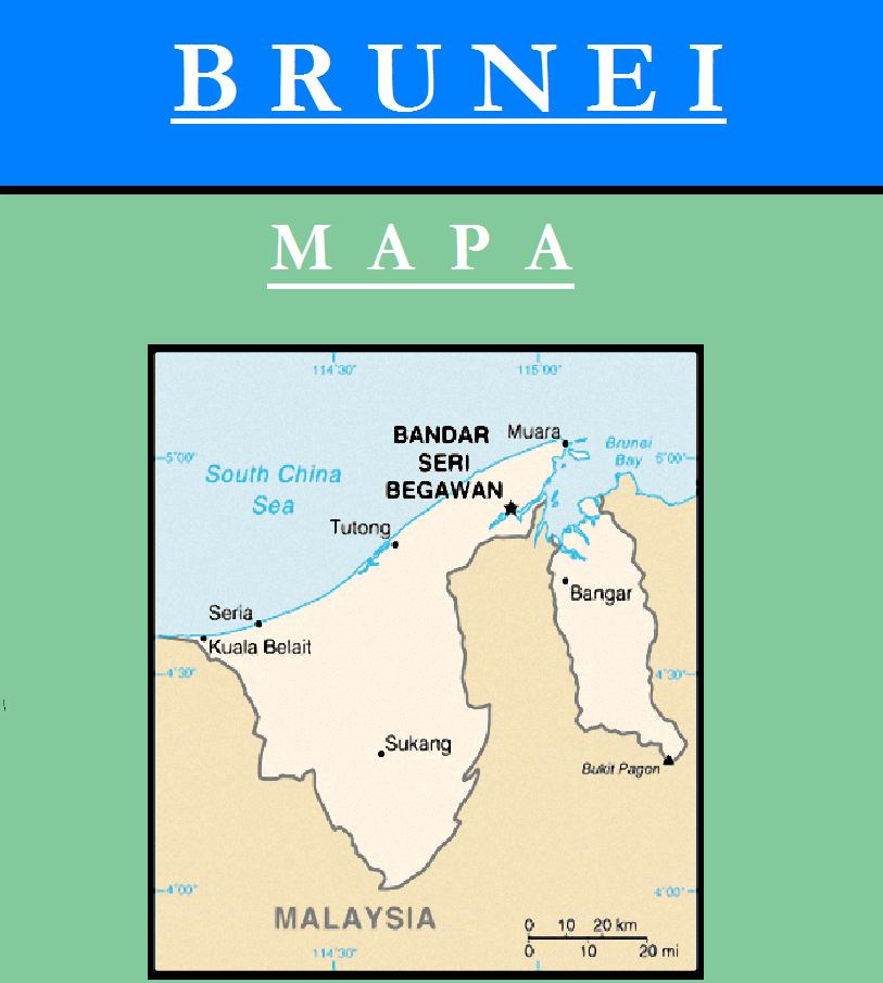 Escudo de MAPA DE BRUNEI