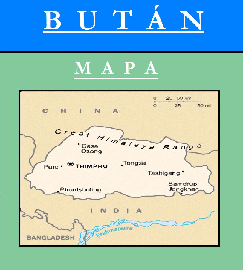 Escudo de MAPA DE BUTÁN