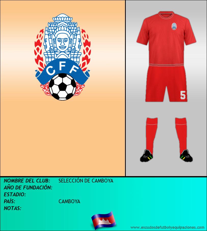Escudo de SELECCIÓN DE CAMBOYA