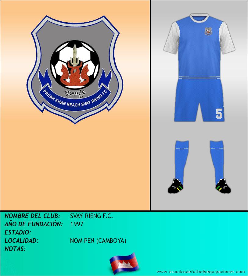 Escudo de SVAY RIENG F.C.