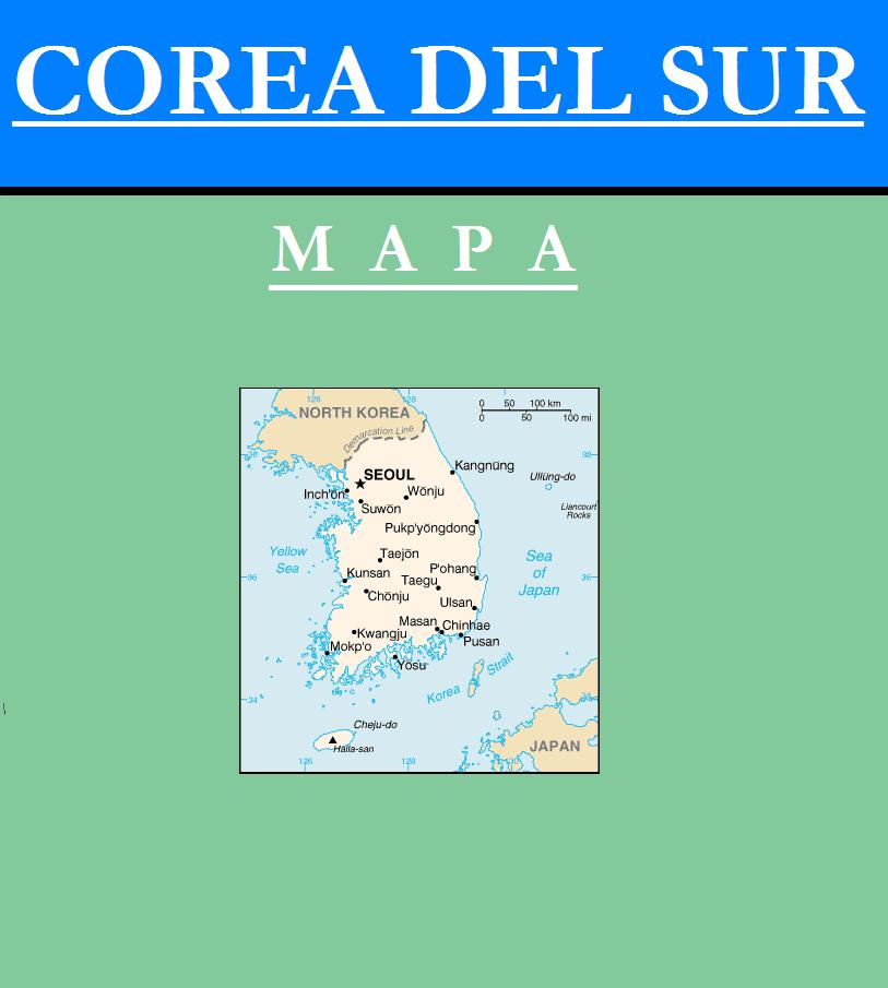 Escudo de MAPA DE COREA DEL SUR