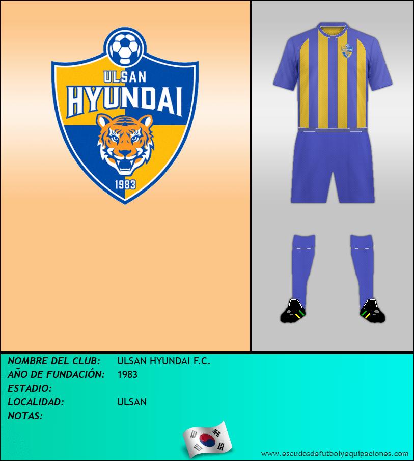 Escudo de ULSAN HYUNDAI F.C.