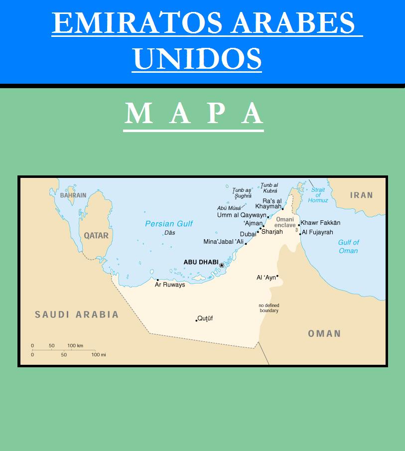 Escudo de MAPA DE EMIRATOS ÁRABES UNIDOS