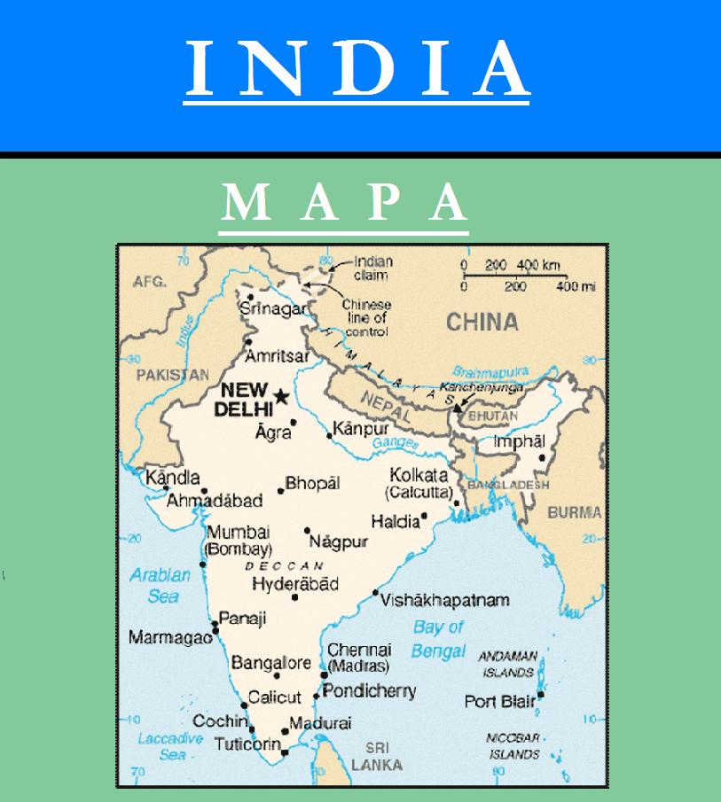 Escudo de MAPA DE INDIA
