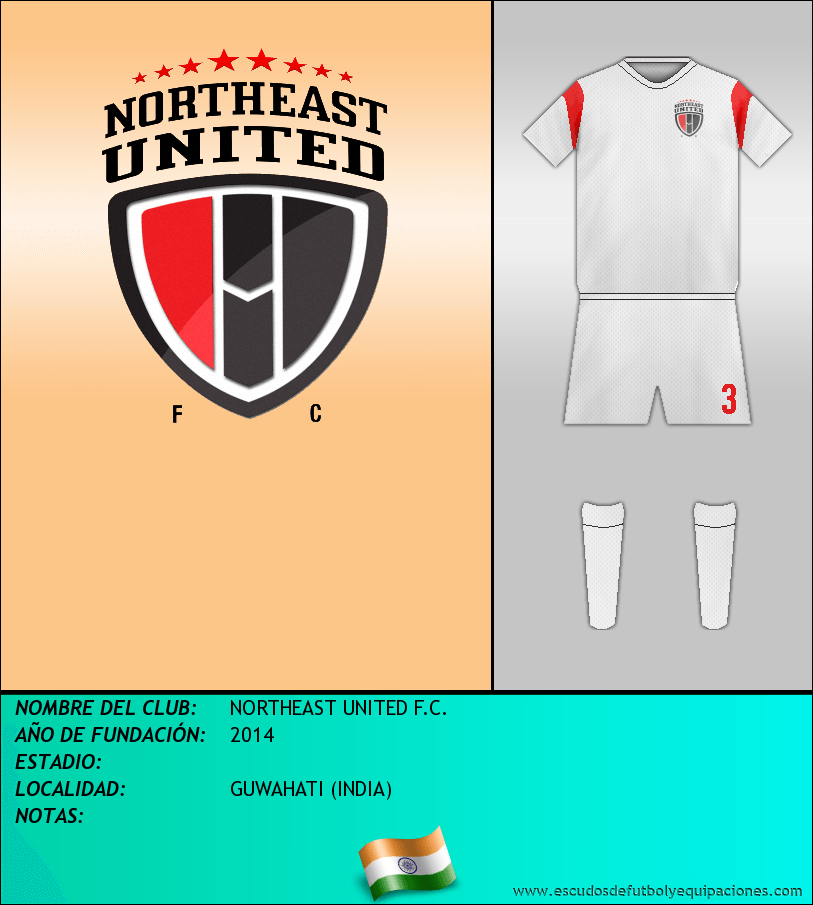 Escudo de NORTHEAST UNITED F.C.