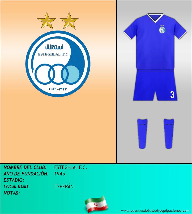 Escudo de ESTEGHLAL F.C.