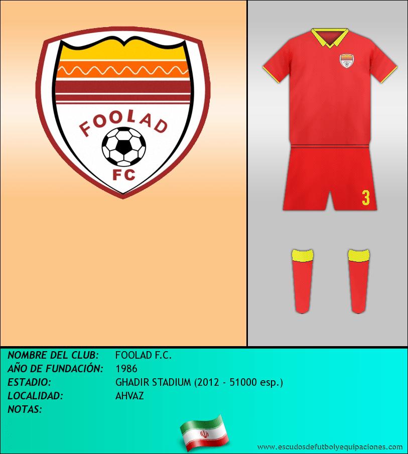 Escudo de FOOLAD F.C.