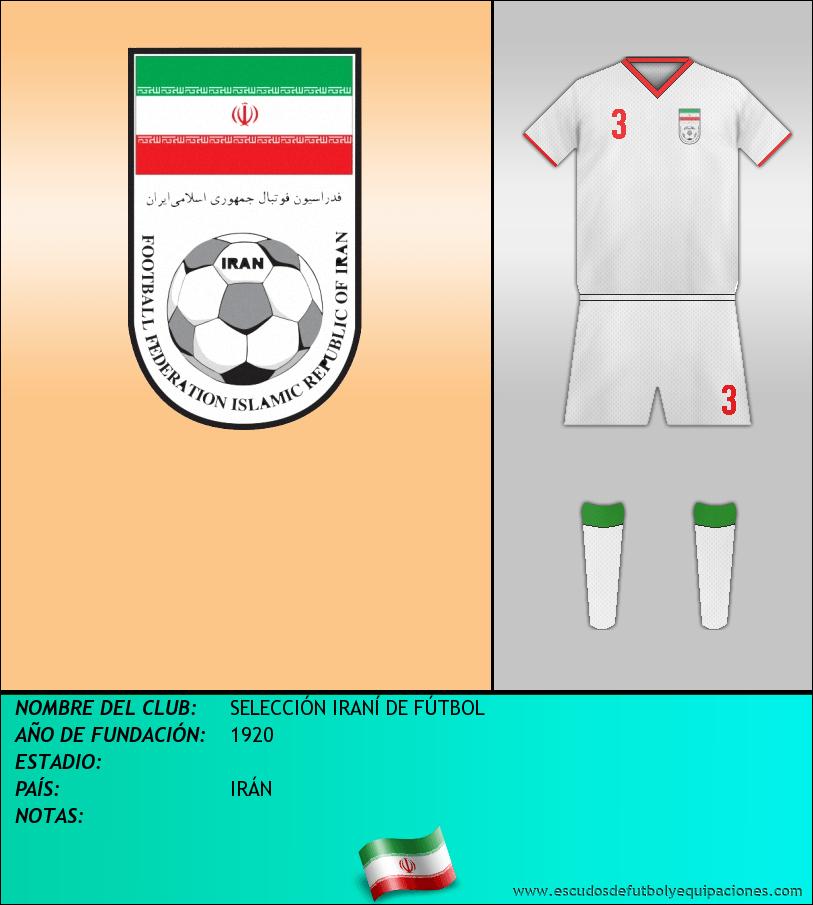 Escudo de SELECCIÓN IRANÍ DE FÚTBOL