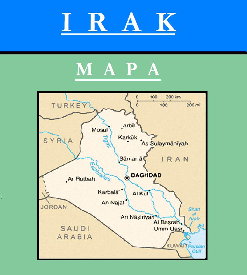 Escudo de MAPA DE IRAK