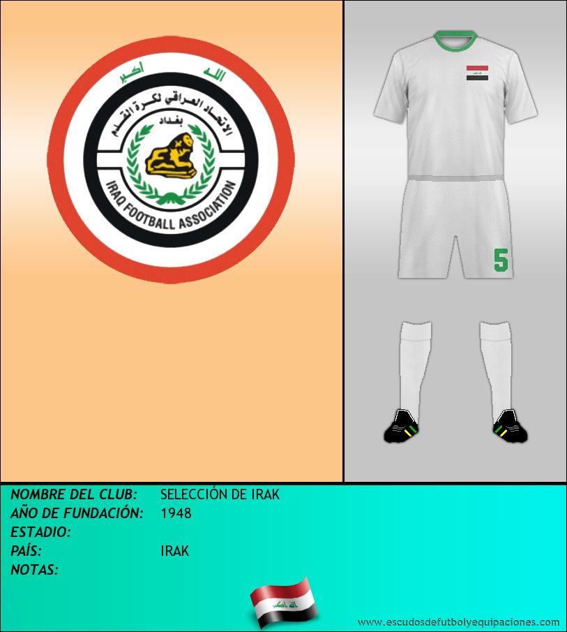 Escudo de SELECCIÓN DE IRAK