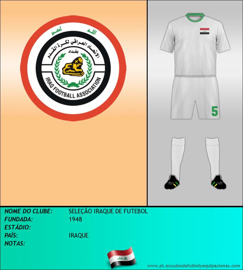 Escudo de SELEÇÃO IRAQUE DE FUTEBOL