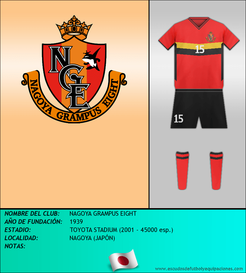 Escudo de NAGOYA GRAMPUS EIGHT