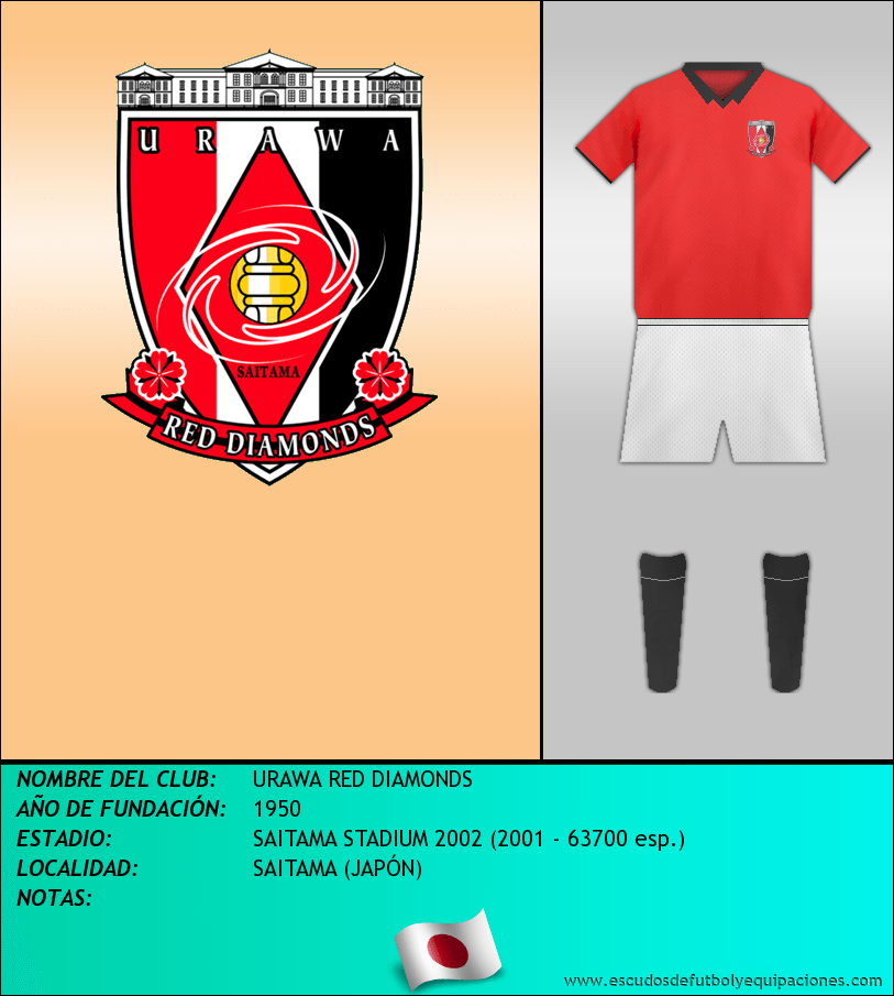 Escudo de URAWA RED DIAMONDS