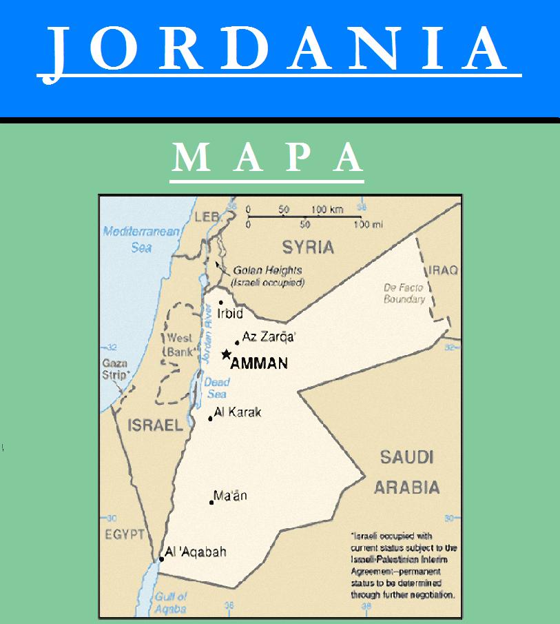 Escudo de MAPA DE JORDANIA