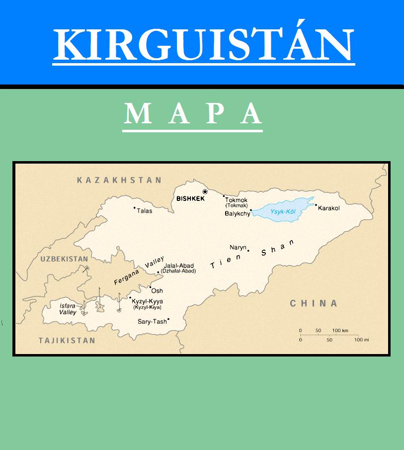Escudo de MAPA DE KIRGUISTÁN