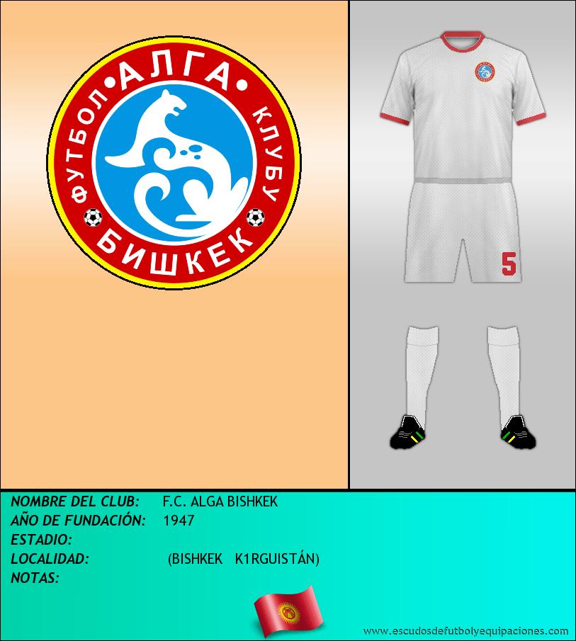 Escudo de F.C. ALGA BISHKEK