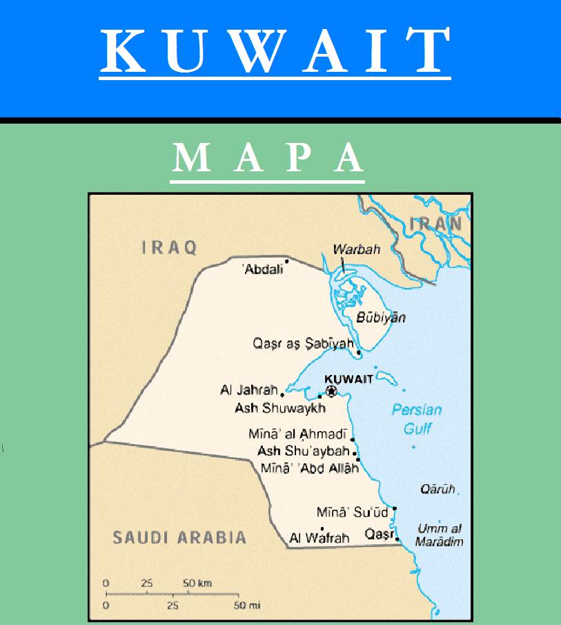 Escudo de MAPA DE KUWAIT