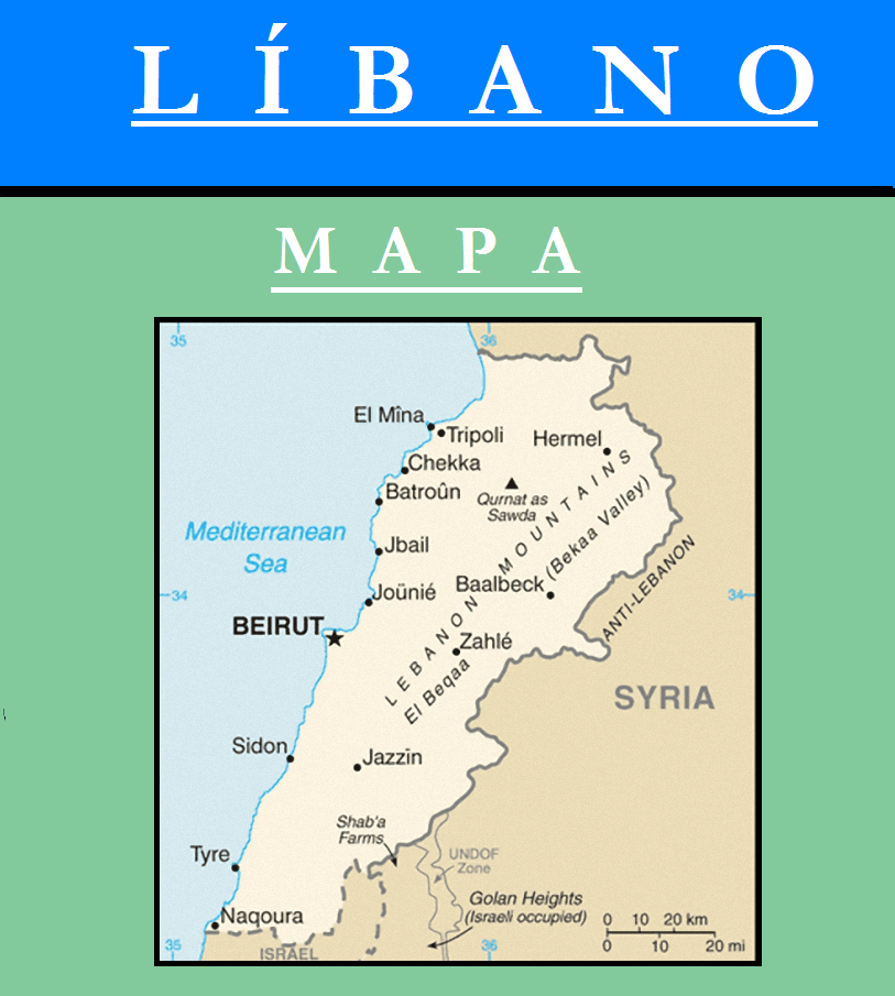 Escudo de MAPA DE LÍBANO