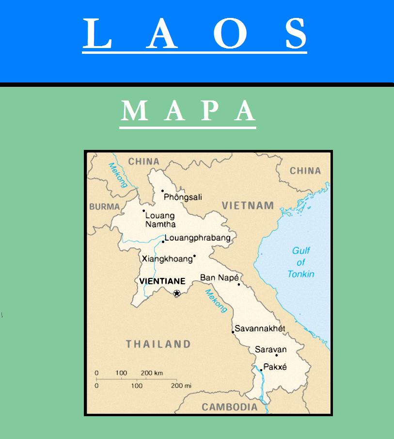 Escudo de MAPA DE LAOS