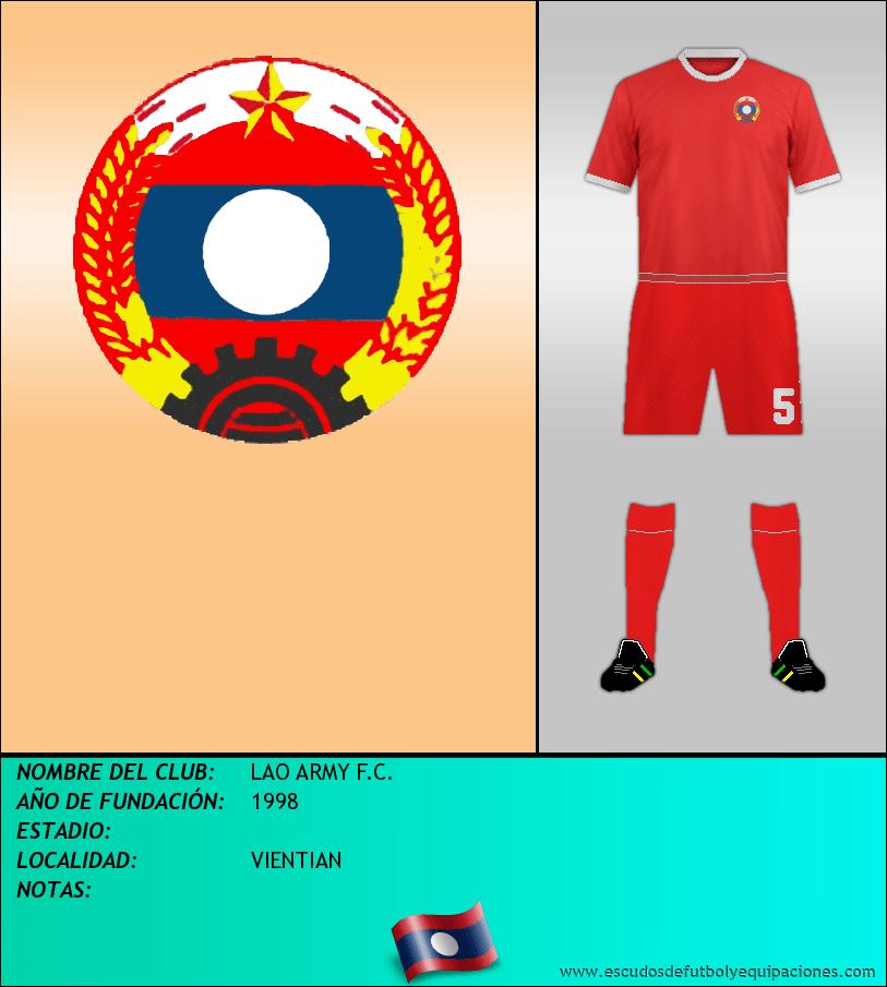 Escudo de LAO ARMY F.C.