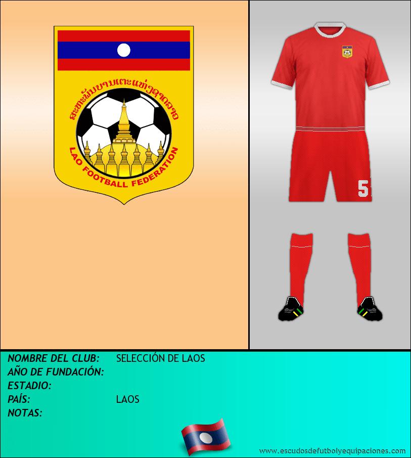 Escudo de SELECCIÓN DE LAOS