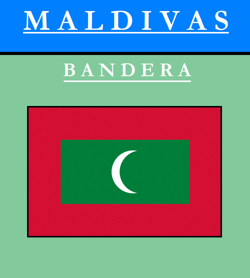 Escudo de BANDERA DE MALDIVAS