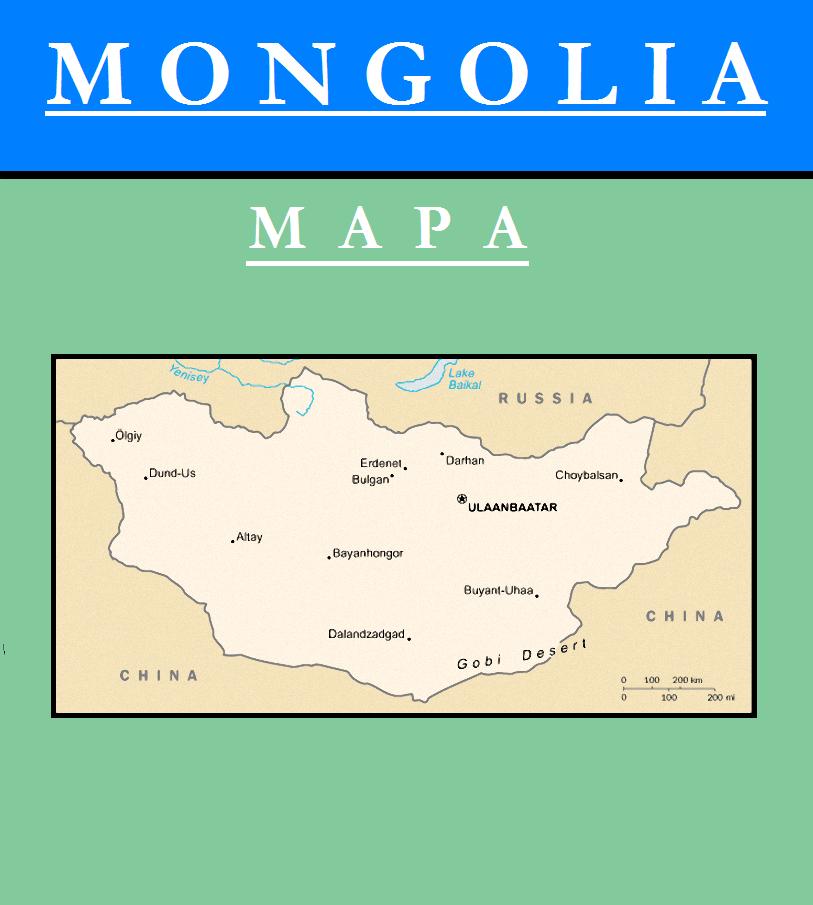 Escudo de MAPA DE MONGOLIA