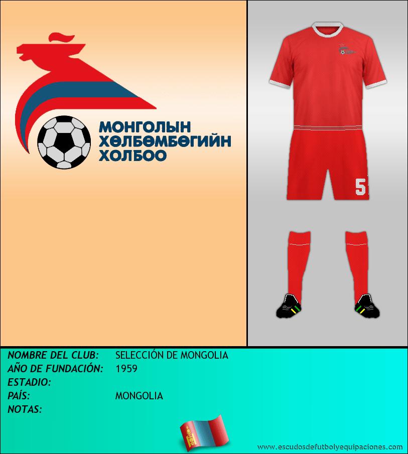 Escudo de SELECCIÓN DE MONGOLIA