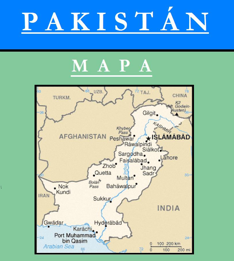 Escudo de MAPA DE PAKISTÁN