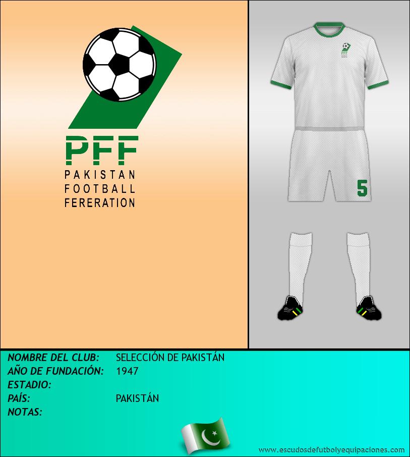 Escudo de SELECCIÓN DE PAKISTÁN