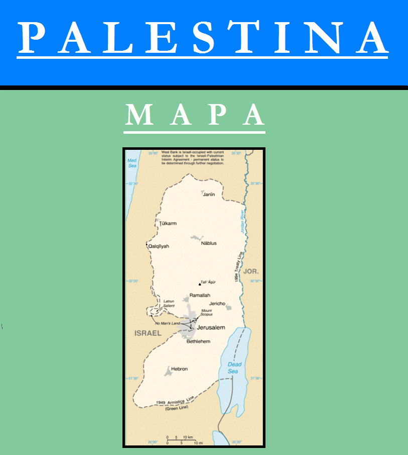 Escudo de MAPA DE PALESTINA