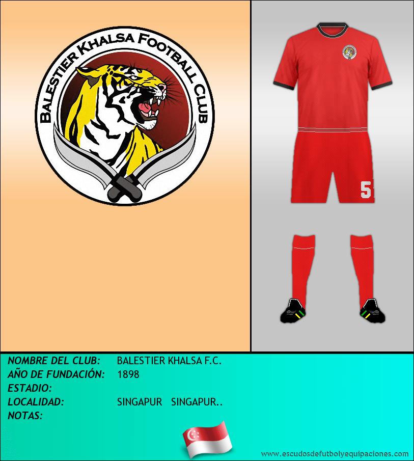 Escudo de BALESTIER KHALSA F.C.