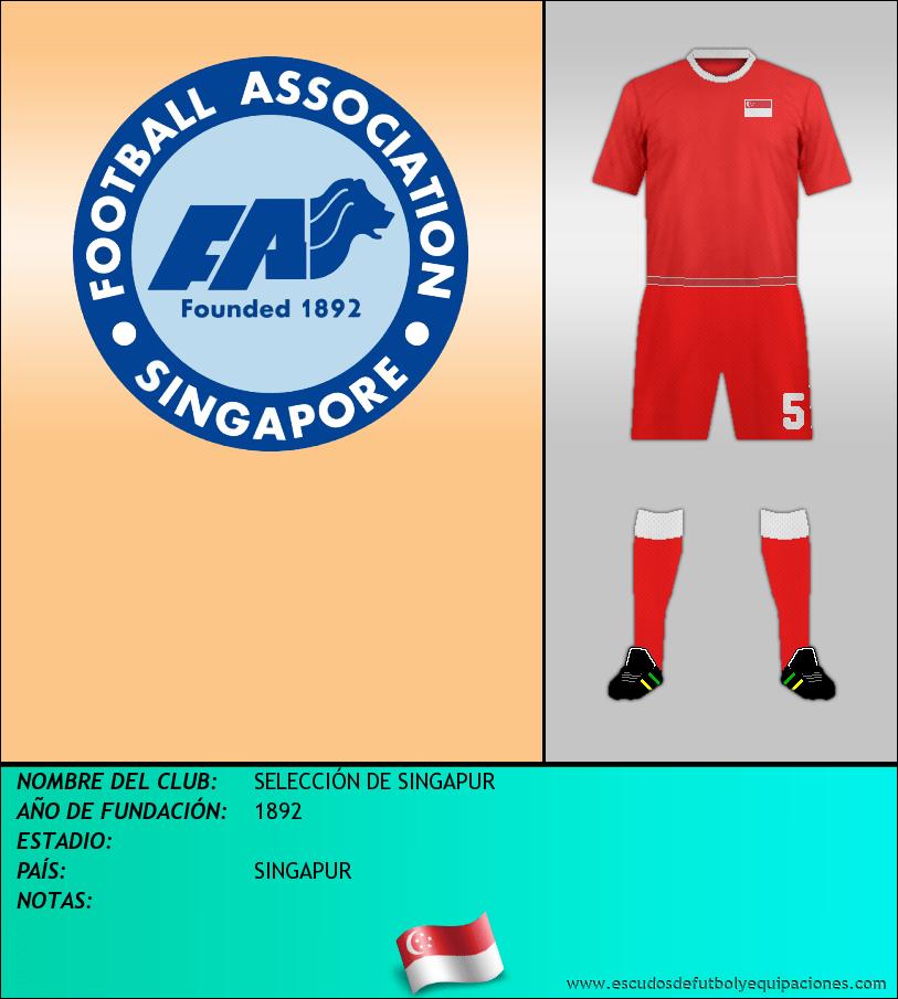 Escudo de SELECCIÓN DE SINGAPUR