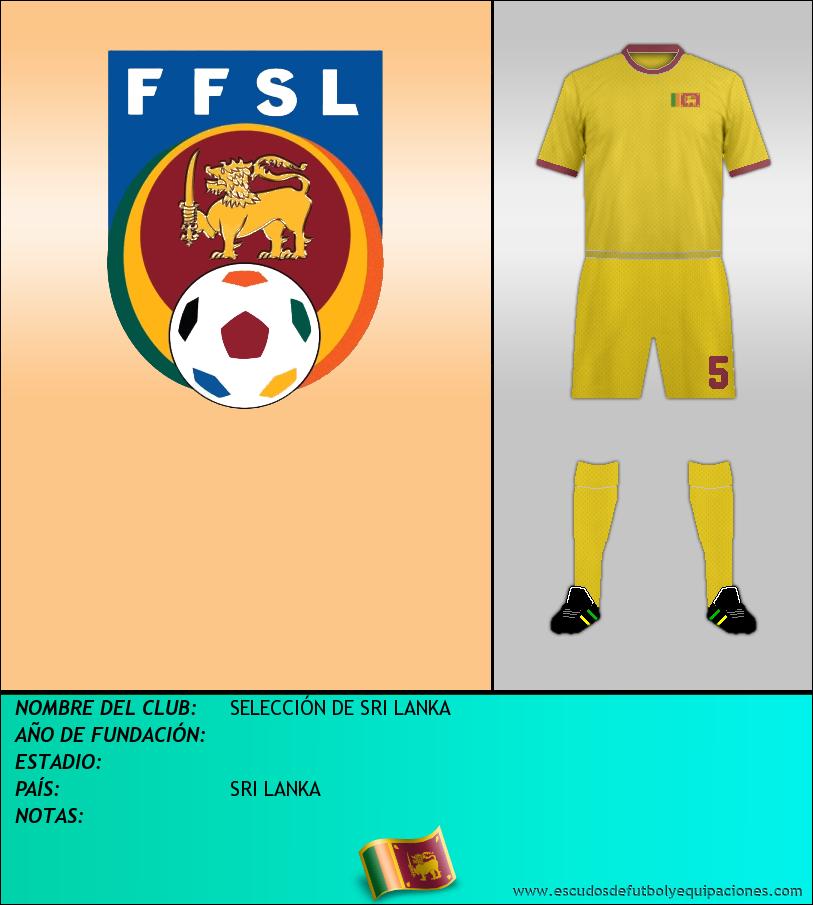 Escudo de SELECCIÓN DE SRI LANKA