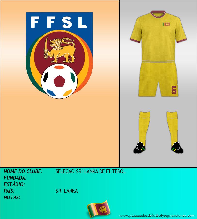 Escudo de SELEÇÃO SRI LANKA DE FUTEBOL