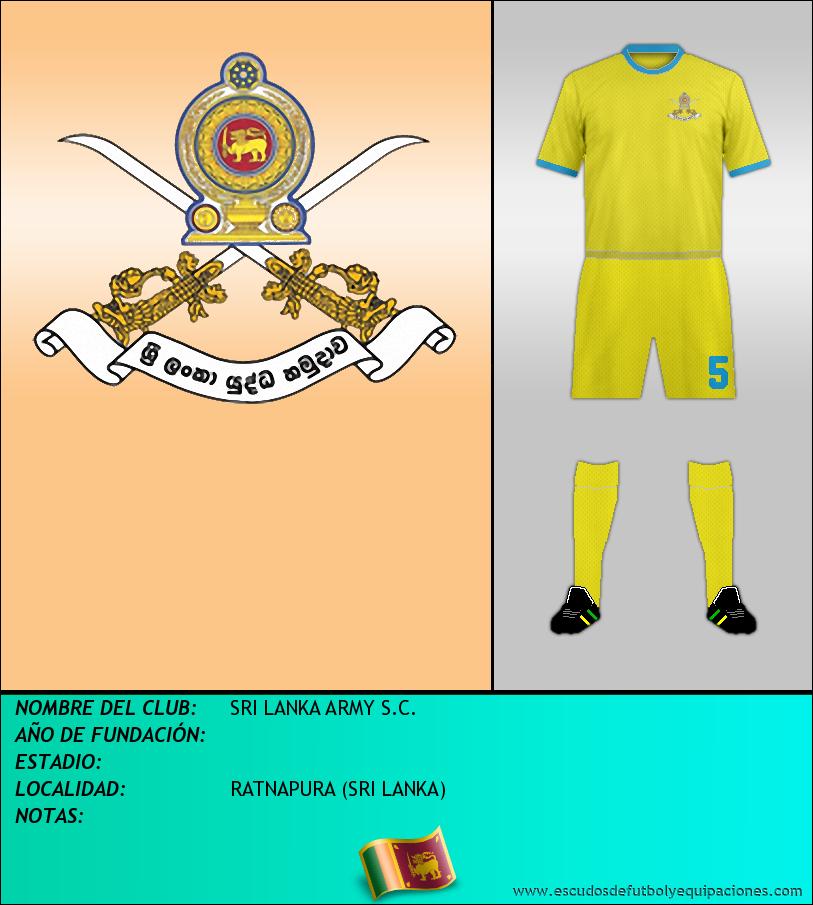 Escudo de SRI LANKA ARMY S.C.