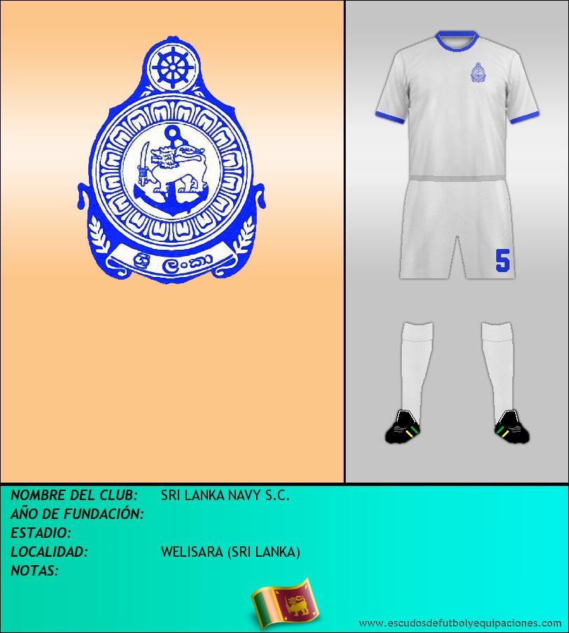 Escudo de SRI LANKA NAVY S.C.