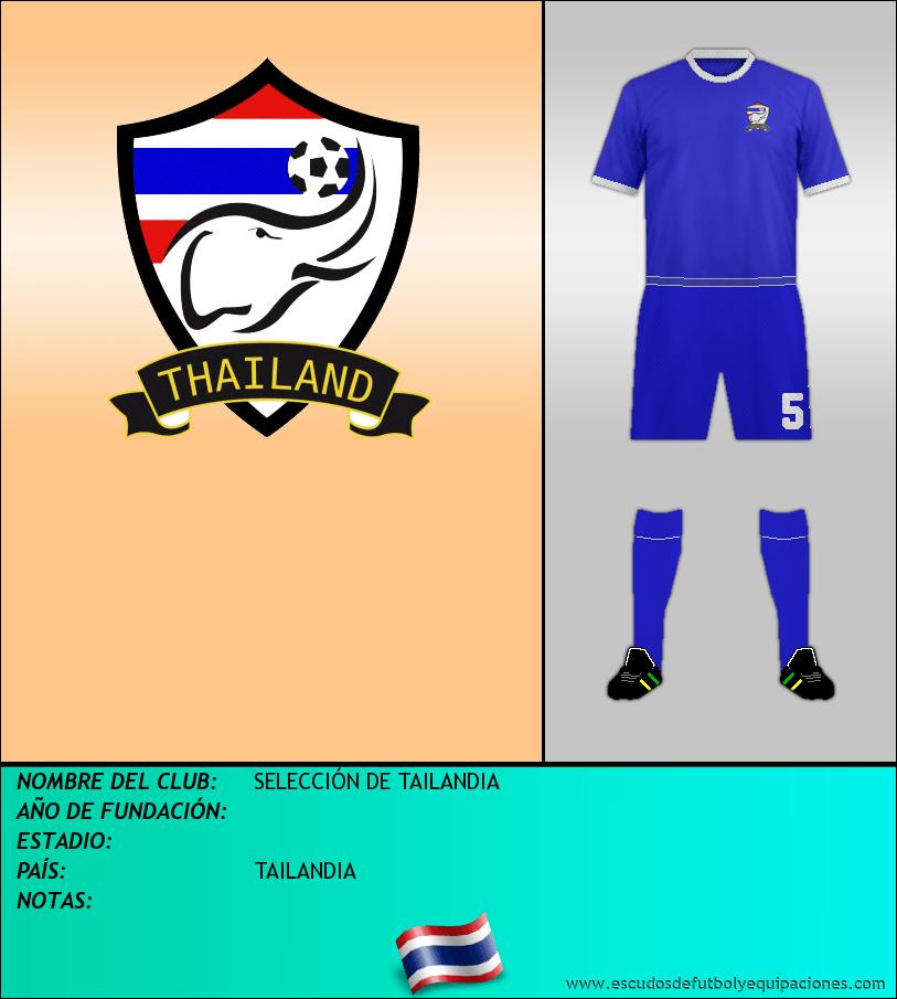 Escudo de SELECCIÓN DE TAILANDIA