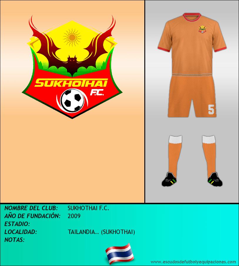 Escudo de SUKHOTHAI F.C.