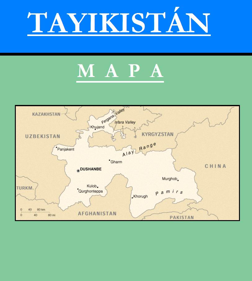 Escudo de MAPA DE TAYIKISTÁN