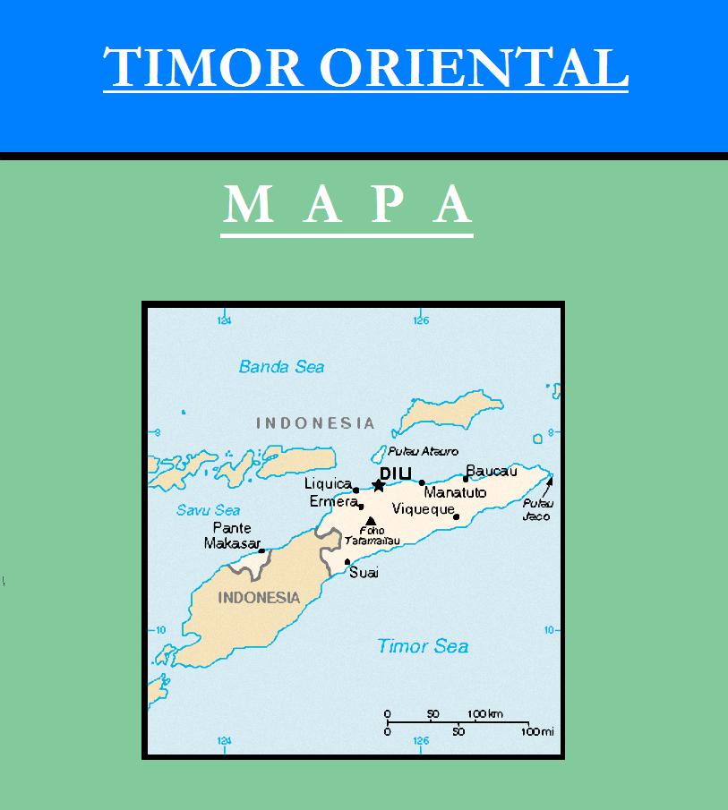 Escudo de MAPA DE TIMOR ORIENTAL