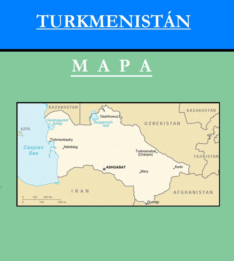 Escudo de MAPA DE TURKMENISTÁN
