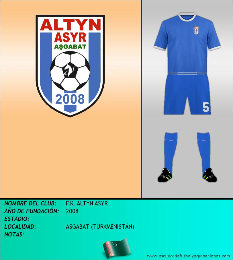 Escudo de F.K. ALTYN ASYR